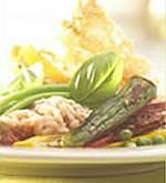 Risotto met zuiderse groenten en koekje van parmezaan