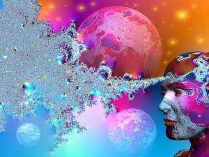 Licht affirmaties om nare gedachtevormen te bestrijden.